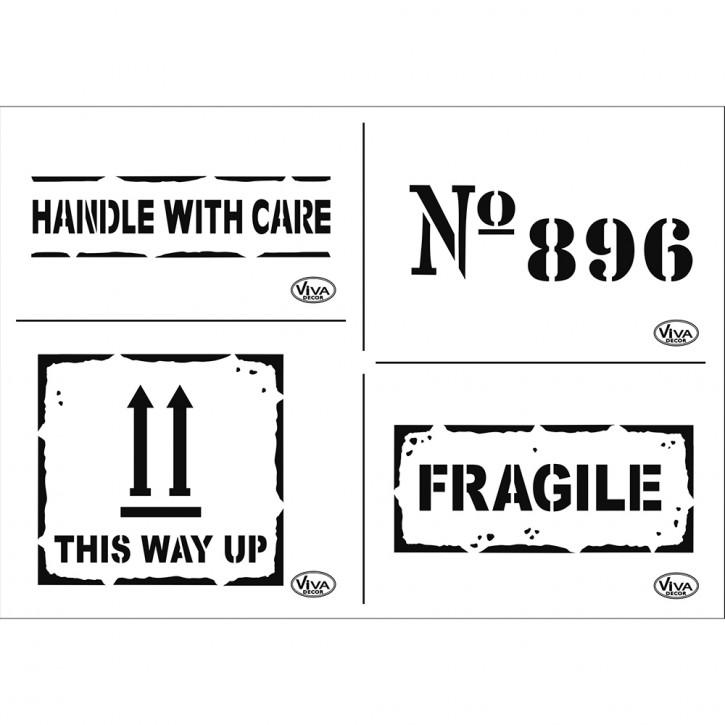 Schablone A4 Fragile