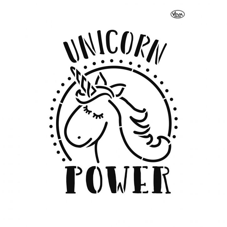 Schablone A4 Unicorn Power