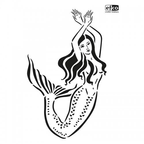 Schablone Meerjungfrau, 2 Tlg. DIN A4