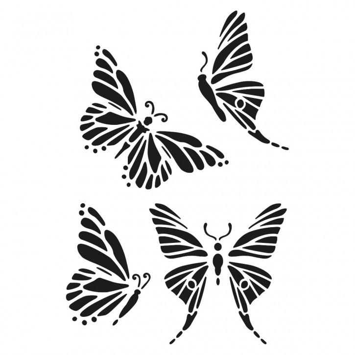 Schablone Schmetterlinge 4 Tlg. DIN A5