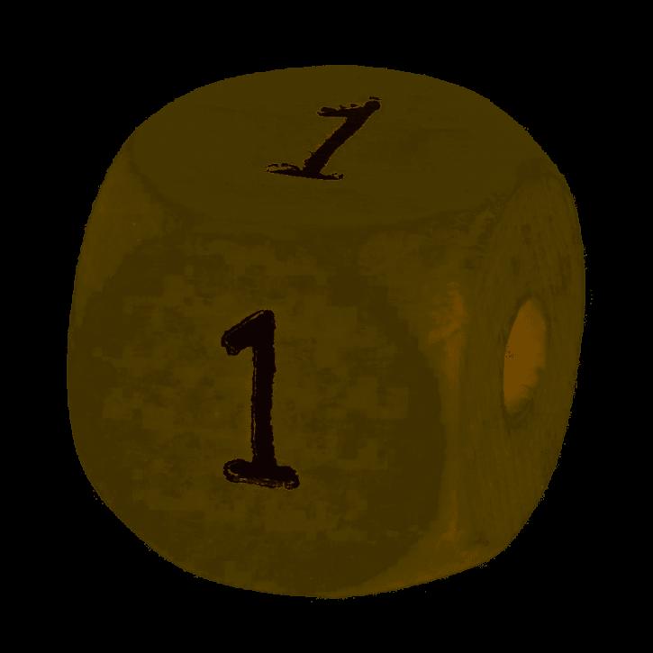 Schnulli-Zahlen-Würfel, 10mm,1Stück