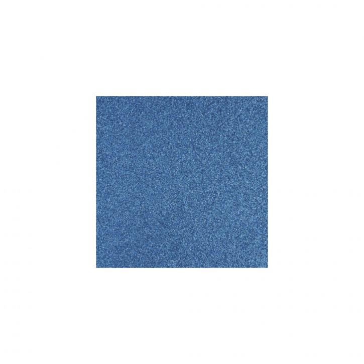 Scrapbooking-Papier: Glitter, azurblau 30,5x30,5cm, 200 g/m2