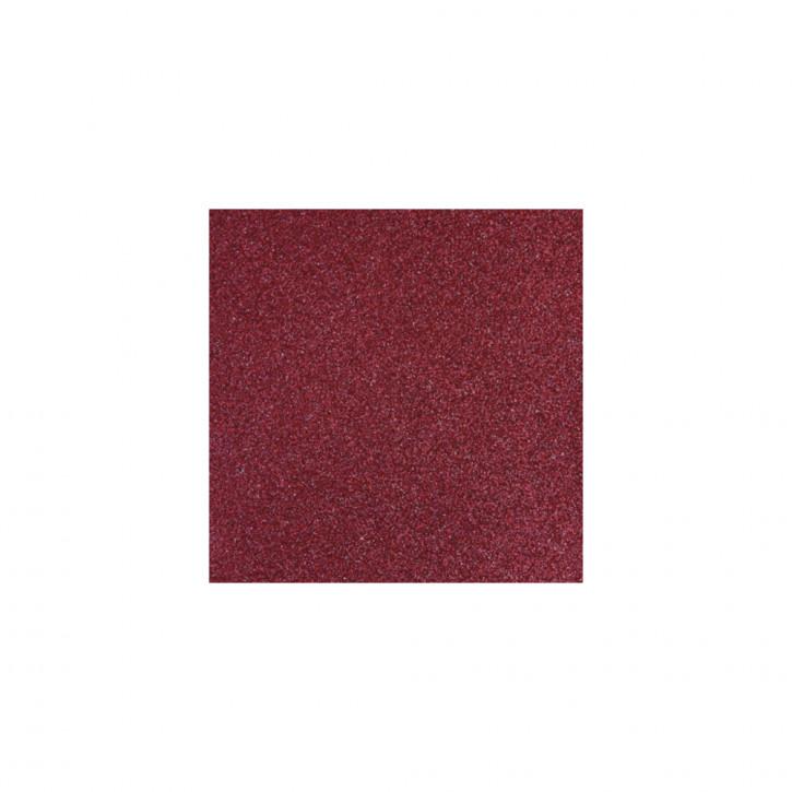 Scrapbooking-Papier: Glitter, bordeaux 30,5x30,5cm, 200 g/m2