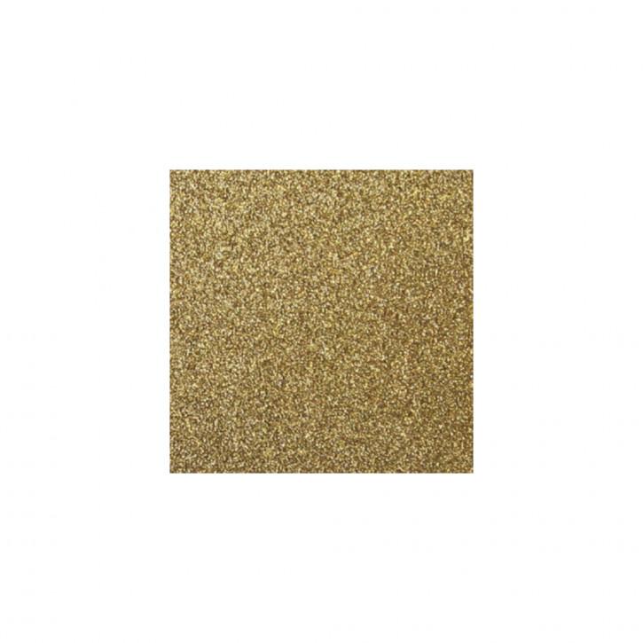 Scrapbooking-Papier: Glitter, gold 30,5x30,5cm, 200 g/m2