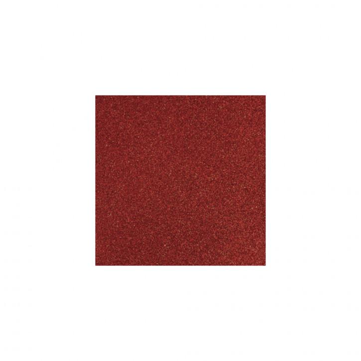 Scrapbooking-Papier: Glitter, kardinalrot 30,5x30,5cm, 200 g/m2