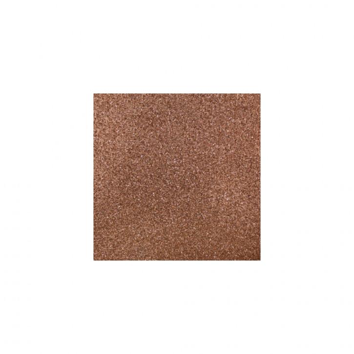 Scrapbooking-Papier: Glitter, nougat 30,5x30,5cm, 200 g/m2