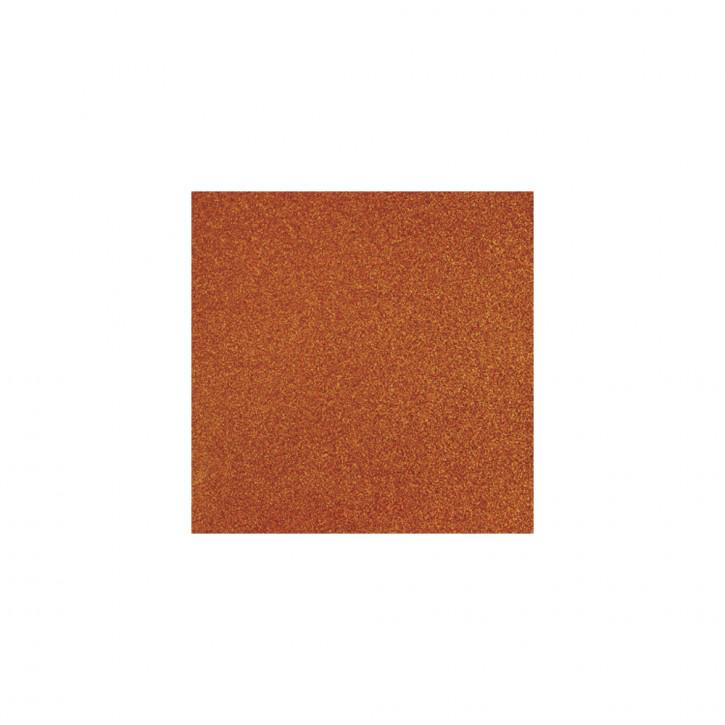 Scrapbooking-Papier: Glitter, orange 30,5x30,5cm, 200 g/m2