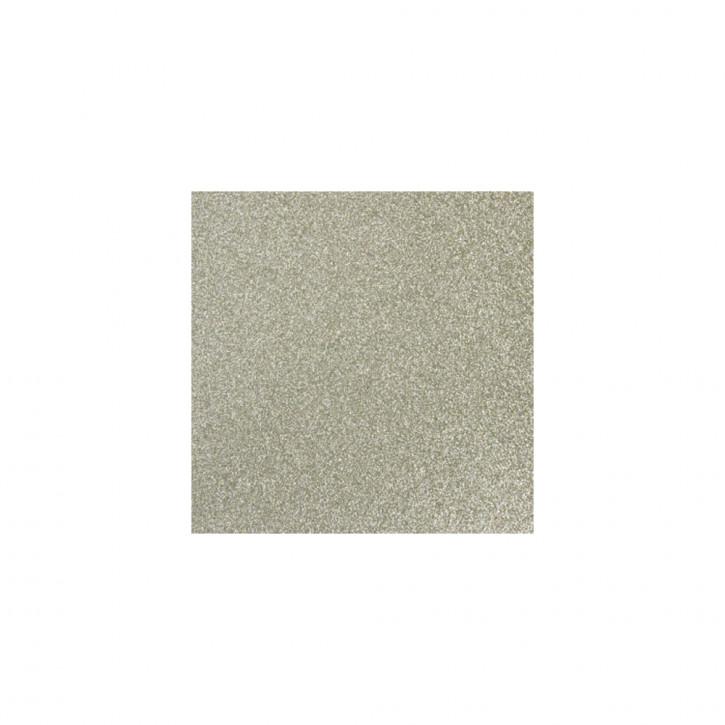 Scrapbooking-Papier: Glitter, silber irisierend 30,5x30,5cm, 200 g/m2