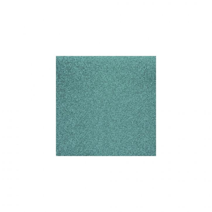 Scrapbooking-Papier: Glitter, türkis 30,5x30,5cm, 200 g/m2