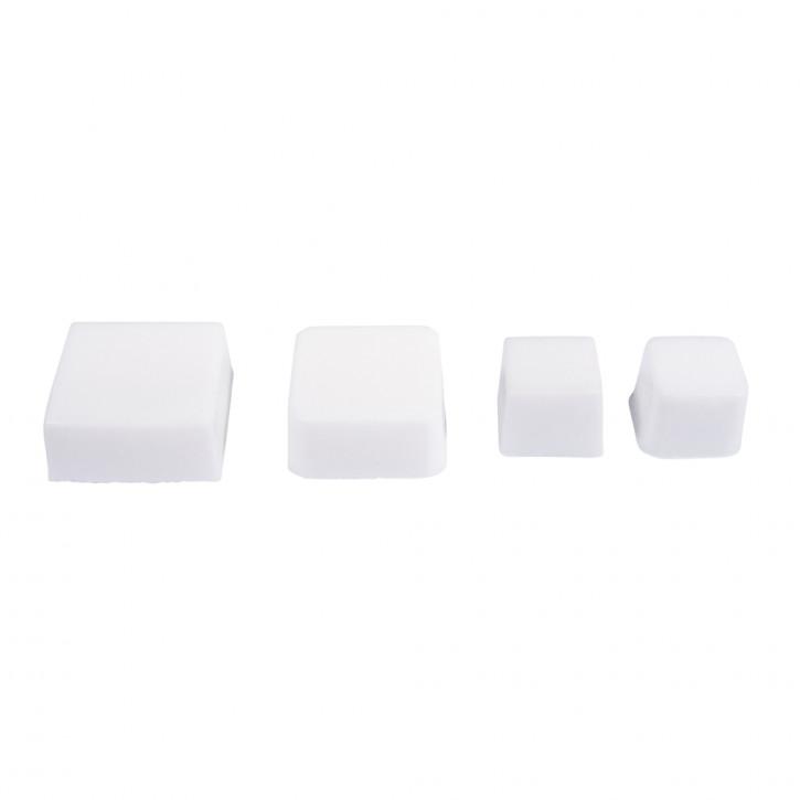 Seifengießform: Quadrate , Tiefe 3cm, 4 teilig
