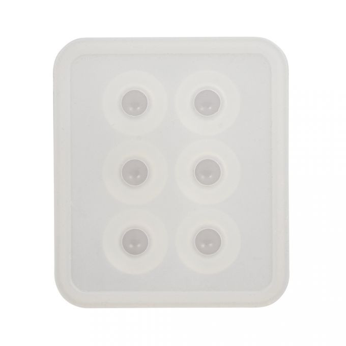 Silikon Gießform Perlen 6 Formen: ø 16mm, SB-Btl 1Stück