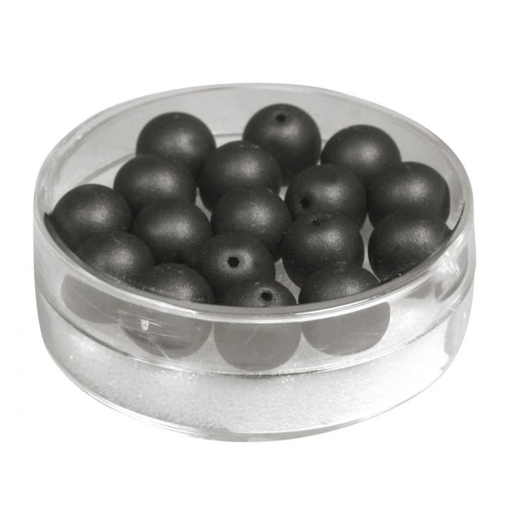Silk-Bead Glas Perle, 8mm Dose 18Stück