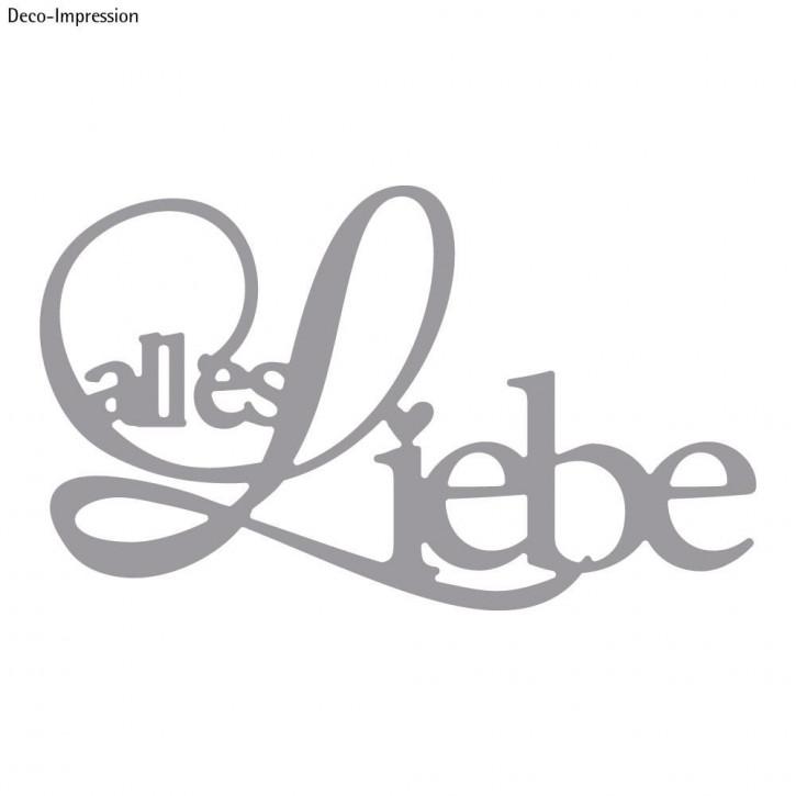 Stanzschabl. : alles Liebe 7,6x4,5cm, SB-Btl 1Stück