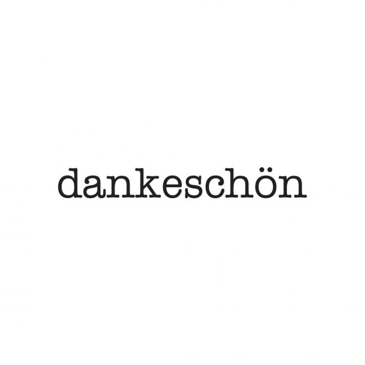 Statement-Stempel Dankeschön, 1x6cm