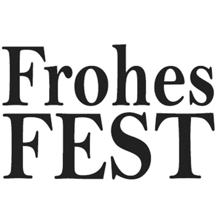 Statement-Stempel Frohes Fest, 2x3cm
