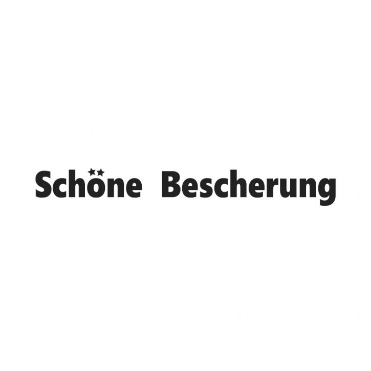 Statement-Stempel Schöne Bescherung, 1x7cm