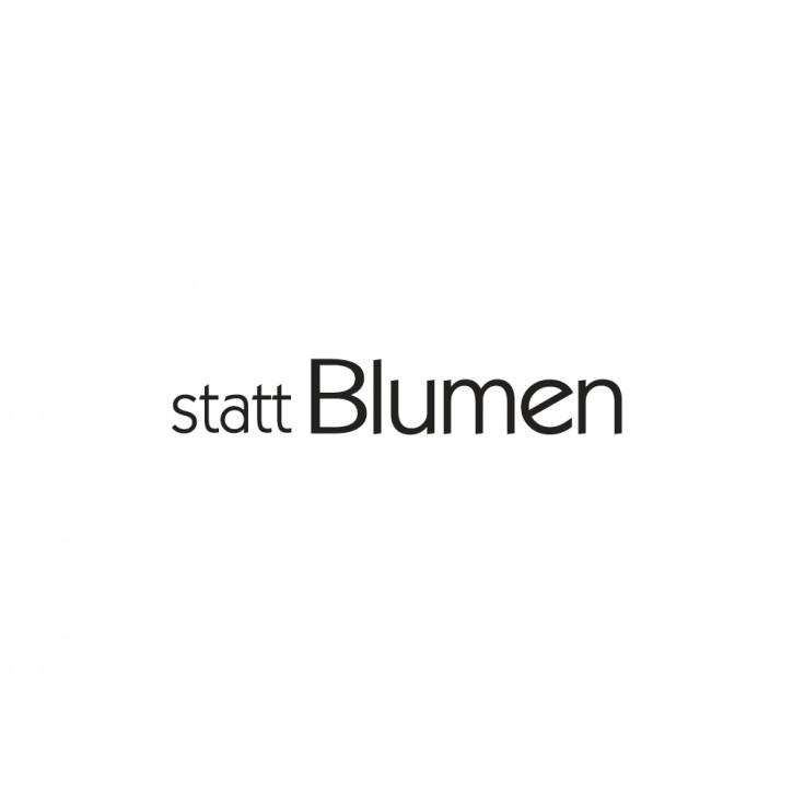 Statement-Stempel Statt Blumen, 1x5cm