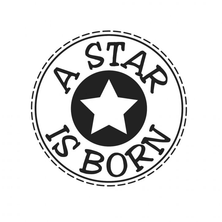 Stempel A Star is born , 3cm ø