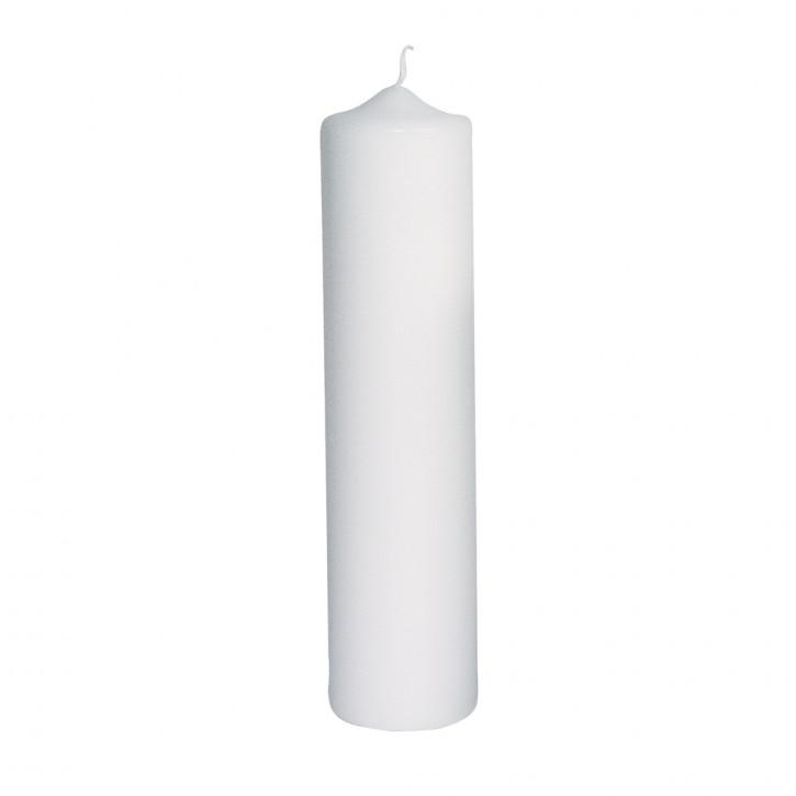 Stumpenkerze, 6cm ø, weiß 25cm
