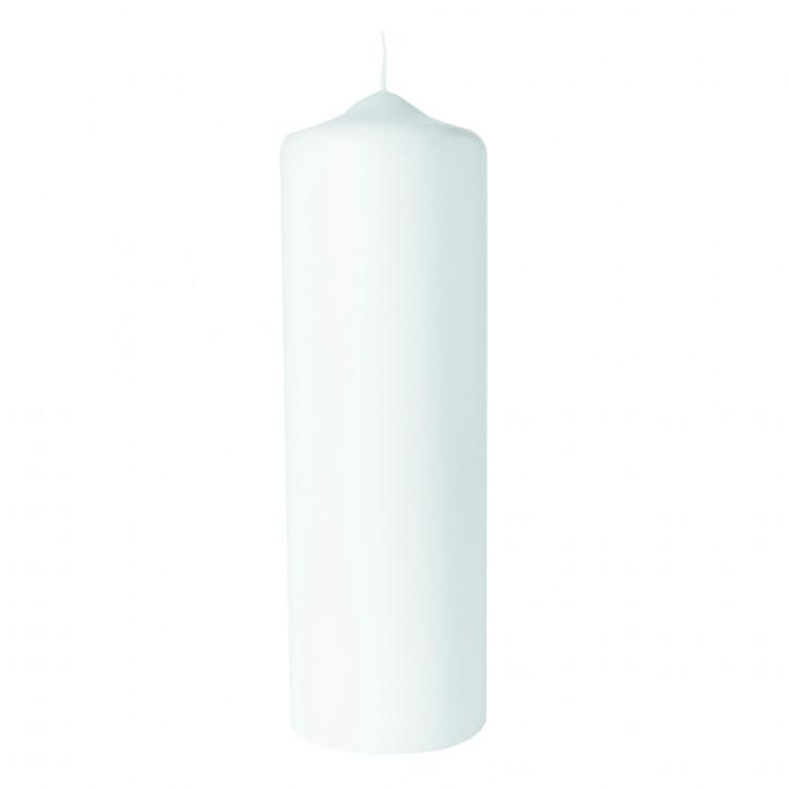 Stumpenkerze, 8cm ø, weiß 25cm