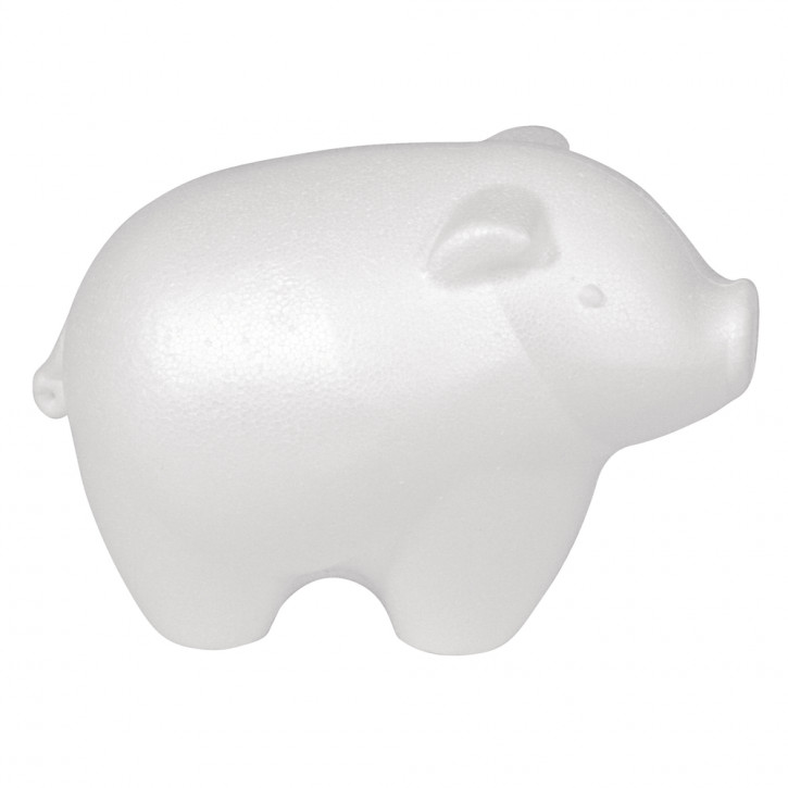 Styropor-Schwein 15x11 cm