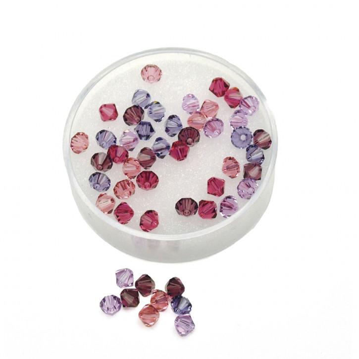 Swarovski Kristall-Schliffperlen 4mm, Dose 50 Stück