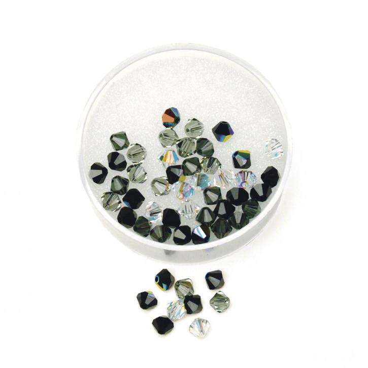Swarovski Kristall-Schliffperlen 6mm, Dose 25 Stück