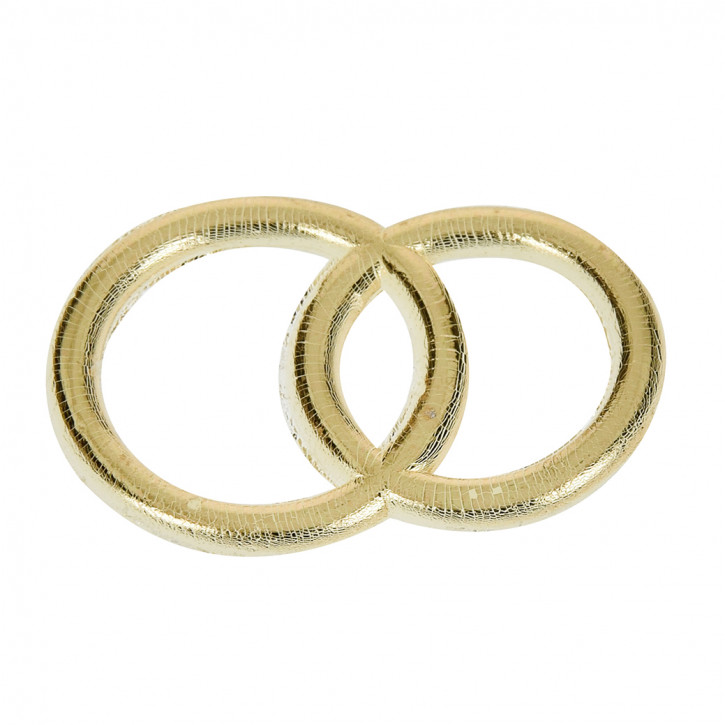 Wachs-Eheringe gold 3,0cm, SB-Btl 1Stück