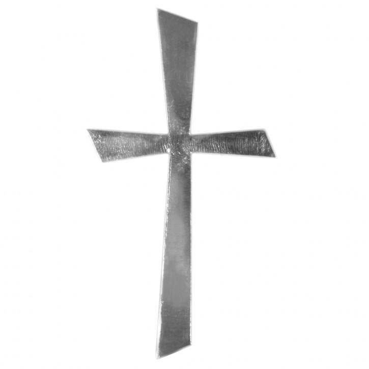 Wachs-Motiv Kreuz 10,5x5,5cm, SB-Btl 1Stück